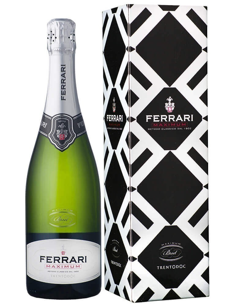 Espumante Ferrari Maximum Brut com cartucho (750ml)