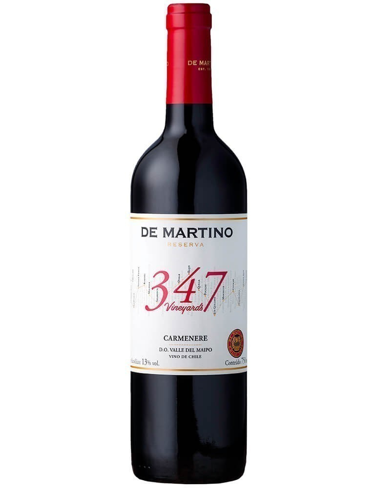 De Martino Carménère Reserva 347 Vineyards 2016 (750ml)